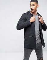 Куртка парка D-Struct - Kibo2 черного цвета удлиненная мужская (чоловіча)
