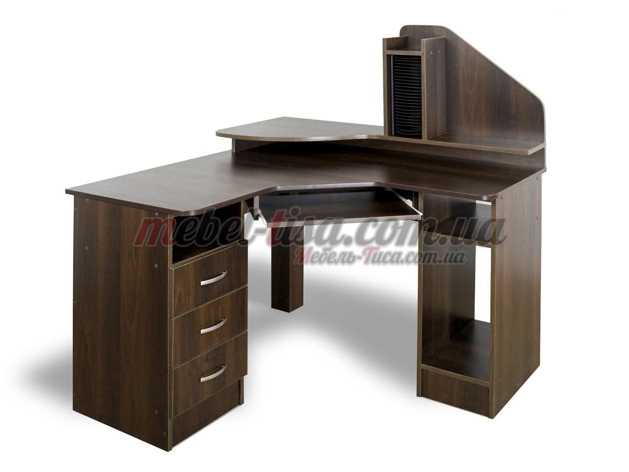 Компьютерный стол СК-120 (яблоня локарно, зеркальный)