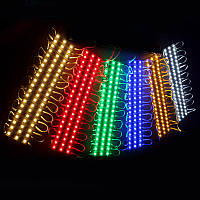 Светодиодный модуль рекламный синий свет MR3L5054B 3 светодиода SMD5054 IP66