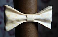 Деревянная бабочка галстук 3D Альбинос - 3 ручной работы, серия Зиррикот