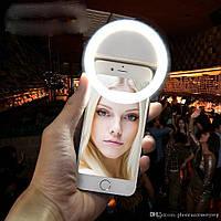 Светодиодное кольцо для селфи / вспышка для смартфона / селфи кольцо / 3 режима