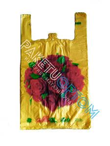 Пакеты майка с рисунком цветная 30х48 см