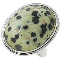 Яшма Далматинец, серебро 925, кольцо, 659КЦЯ