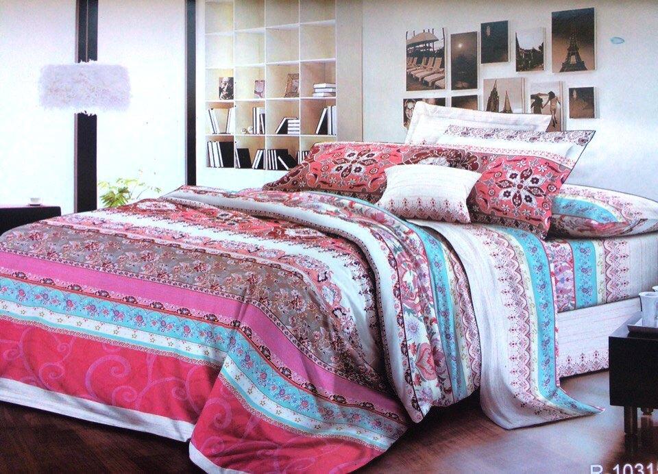 Двуспальный с евро простынью комплект Райское Утро