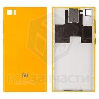 Задняя крышка батареи для мобильного телефона Xiaomi Mi3, желтая, WCDM