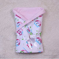 """Летний яркий конверт-одеяло """"Valleri"""" (совы розовый)"""