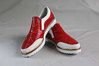Туфли мокасины. Слипоны. Натуральная кожа 0404