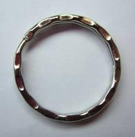 Основа для ключей, заготовка для брелка. Длина цепи 2,5 см, кольцо 3,5 см, фото 1