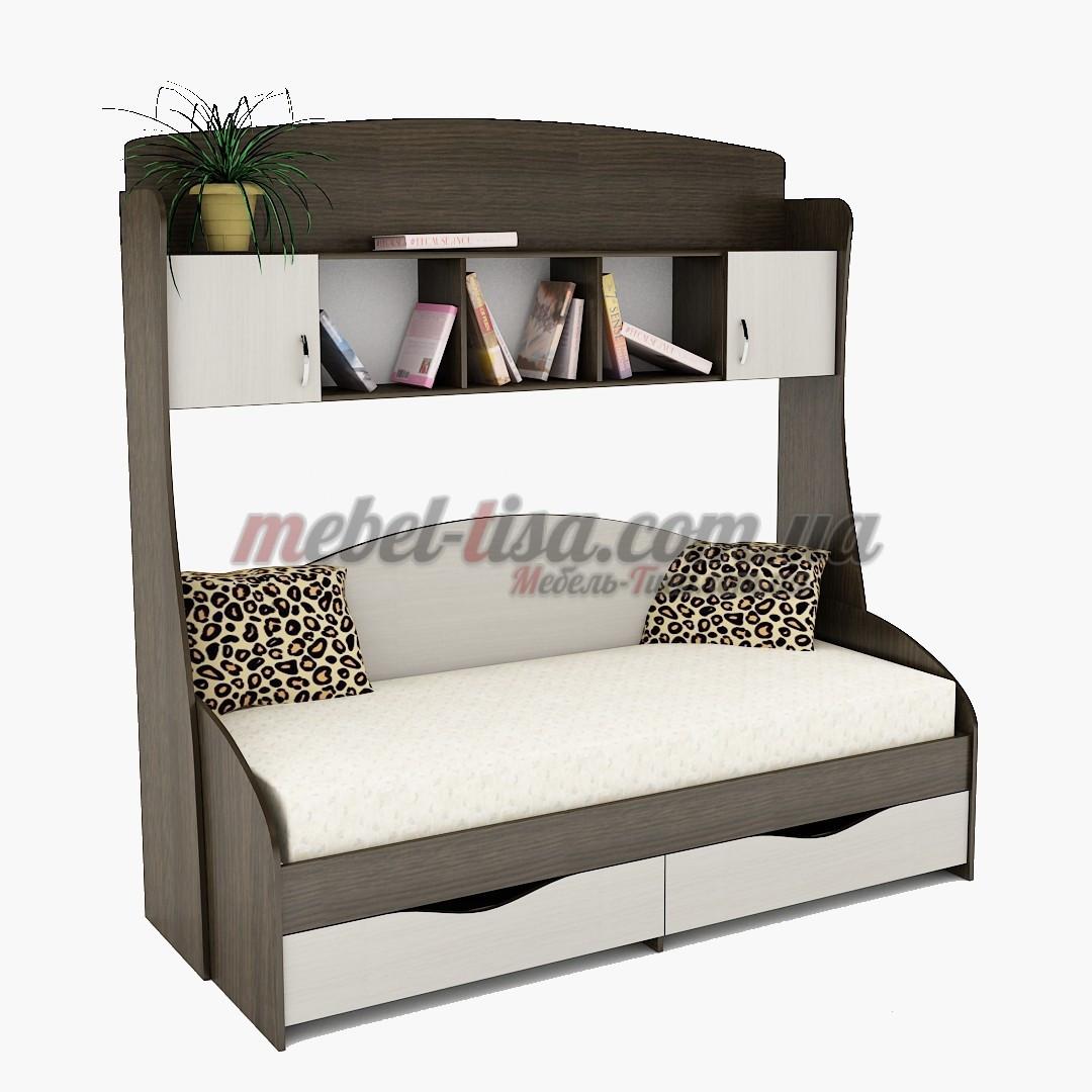 Кровать Горизонт + Надстройка ПК-1