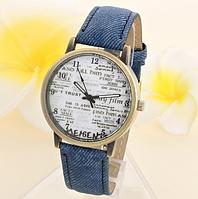 """Женские наручные часы """"Джинсовый стиль"""" синие кварцевые"""