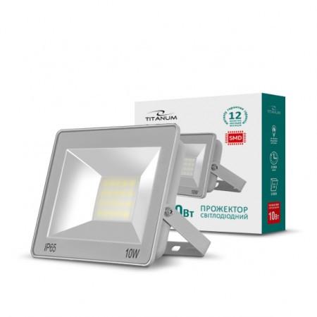 LED прожектор TITANUM 10W 6000K 220V - Электро Радио Груп - 1-й магазин электрики и радиоэлектроники в Кривом Роге