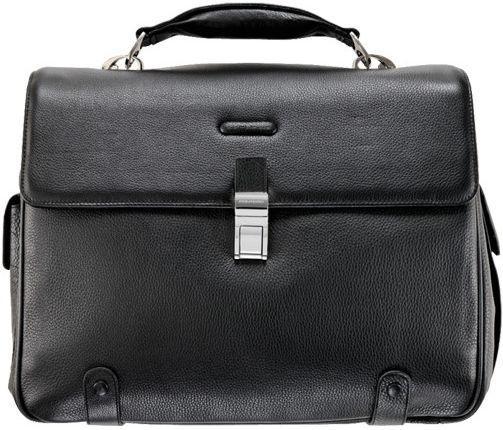 Мужской портфель из кожи Piquadro CA1066B2_N черный