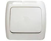 Выключатель (внутр.проводка) 1-кл Аско (белый) от12шт