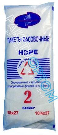 Пакети пакувальні харчові Традиції якості №2 1000 шт 18х27см
