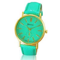 """Женские наручные часы """"Geneva"""" - цвет мятно-зеленый"""
