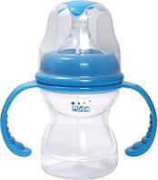 Бутылочка для кормления Lindo Premium А16 с силиконовой соской 210 мл