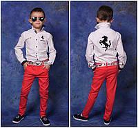 Весенние брюки для мальчика огненный коралл