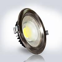 Светильник LED OPTONICALED 10W 4500К круг 124*40 мм встраиваемый IP20