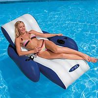 Кресло шезлонг надувное пляжное Intex 58868 (180х135 см)