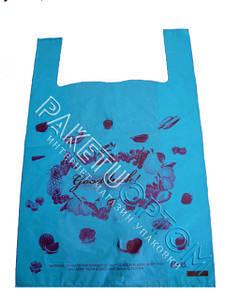 Полиэтиленовые пакеты майка с рисунком