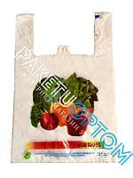 Пакеты майка с рисунком Овощи 30х50 см (прочные)