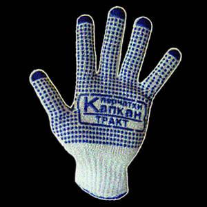 Перчатки хозяйственные рабочие с ПВХ точкой Капкан