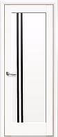 Двери межкомнатные Новый Стиль, Ностра, модель Деллита, с черным стеклом