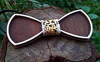 Деревянная бабочка галстук Ободок Лео ручной работы, серия Fantasy