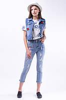 В подарок футболку!!! При заказе 2 товаров: джинсы+жилет, джинсы+куртка, шорты+жилет, шорты+куртка в подарок футболка!!!