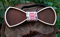 Деревянная бабочка галстук Ободок Сова ручной работы, серия Fantasy