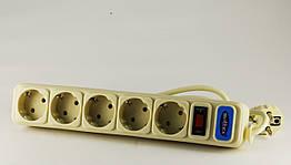 Удлинитель с сетевым фильтром 1.8м SVITTEX SV-001