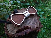 Деревянная бабочка галстук Ободок Клетка ручной работы, серия Fantasy