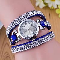 Женские часы-браслет со стразами Blue