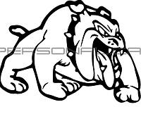Наклейка   декор   DOG   (12x9cм, правая