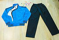 Яркий  голубой спортивный костюм для мальчика  (рост 116, 140-146 см)