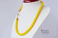 Вязаный жгут желтый, фото 1