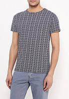 Мужская футболка D-Struct - Серая с принтом узор (чоловіча футболка)