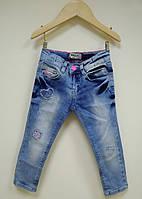 Breeze Джинсы для девочки р86-110 голубой