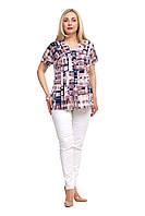 Блузка женская большого размера,блуза батал  1710022