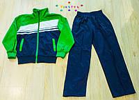 Ластиковый зеленый  спортивный костюм для мальчика  (рост 128-152 см)