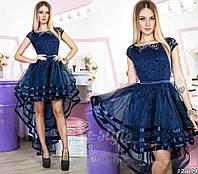 Шикарное асимметричное женское платье