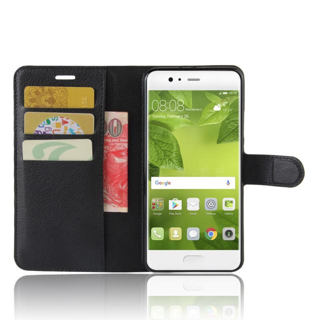 чехол книжка на Huawei P10 plus черный