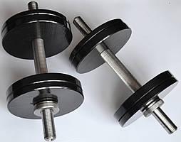 Гантели разборные стальные 2 шт. по 12 кг с покрытием