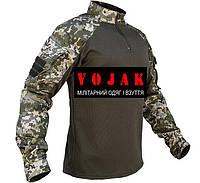 """Рубашка UBACS  """"Украинский пиксель"""" COOLMAX, фото 1"""