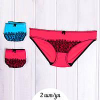 Набор трусиков мини-бикини женские с кружевными вставками La Senza 006-1KTR 10234413 (2 ед. в упаковке)