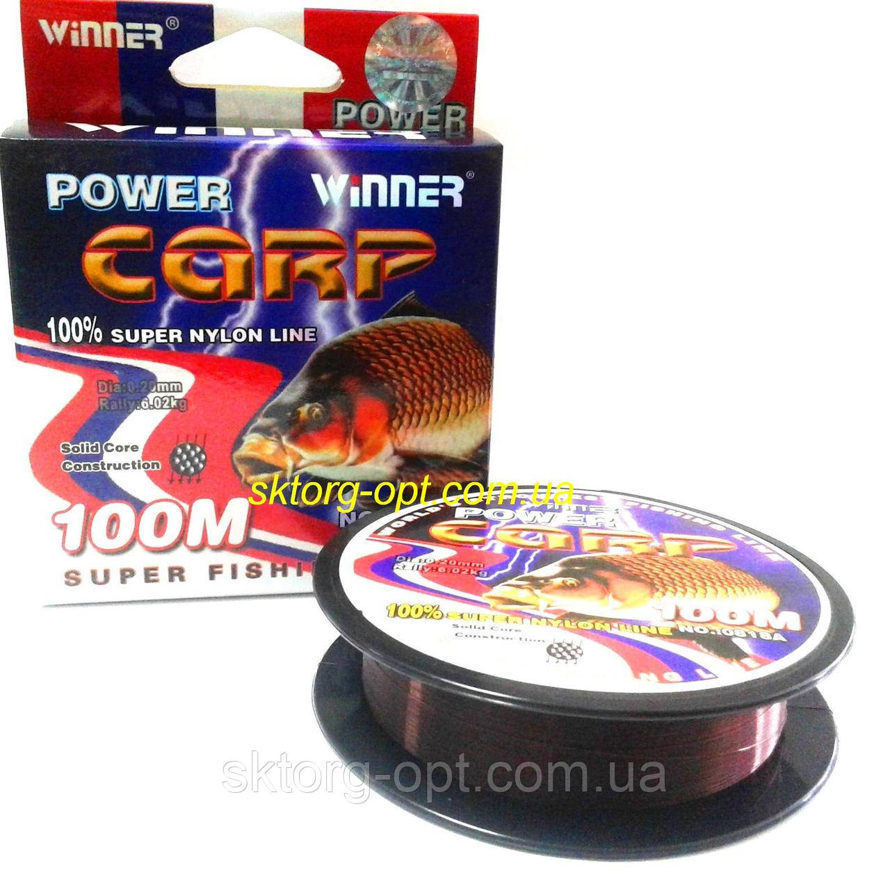 Леска POWER Carp Winner 100м  0.20мм  6,02кг