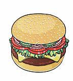 Пляжный коврик Гамбургер, фото 3