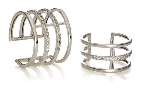 Серебряное кольцо на фалангу картинка