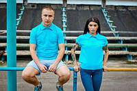 Мужское поло Bezlad - Аква бирюза унисекс (чоловіча футболка)