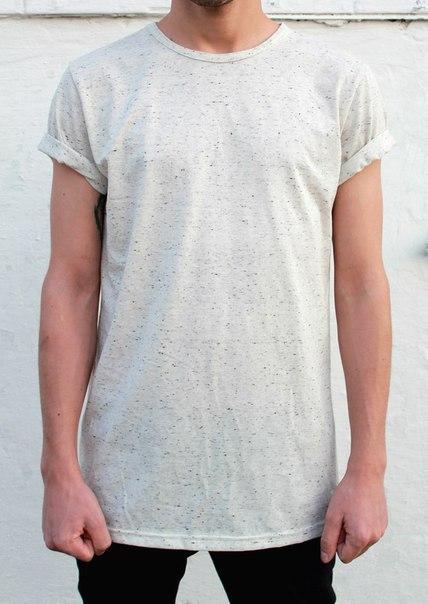 Мужская футболка Transmod - Бежевая с синей крапинкой (чоловіча футболка)